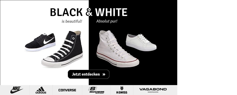 Schuhtrend Schwarz-Weiß