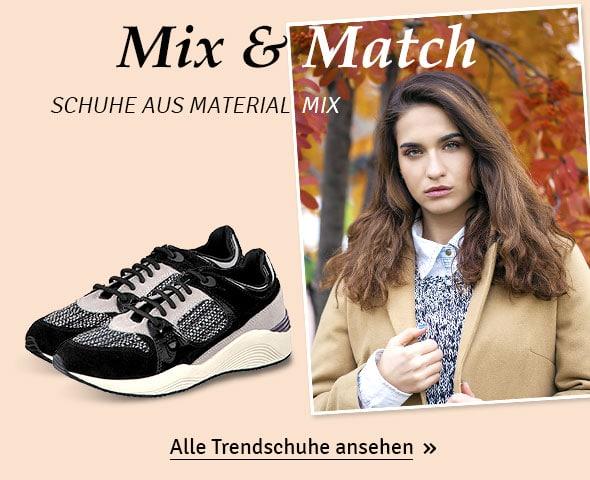 Schuhe mit Materialmix