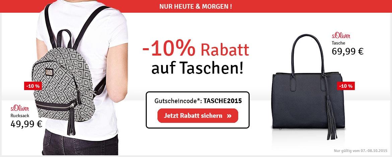 -10% Rabatt auf Taschen!