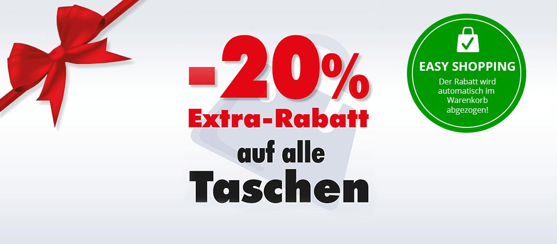 -20% Extra auf Taschen