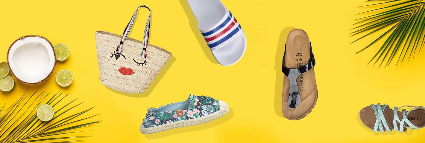 Jetzt günstig Sandalen, Pantoletten, Zehentrenner und Badeschlappen für den Urlaub online bei Siemes Schuhcenter shoppen