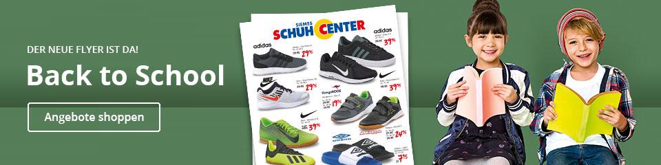 Back to School - Jetzt günstige Schuhe zum Schulstart aus unserem Prospekt im Siemes Schuhcenter Onlineshop kaufen