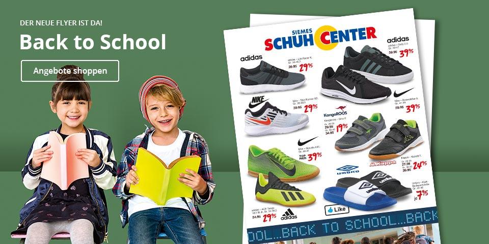 Back to School - Jetzt günstige Sneaker, Hallensportschuhe uvm. zum Schulstart auf schuhcenter.de online shoppen