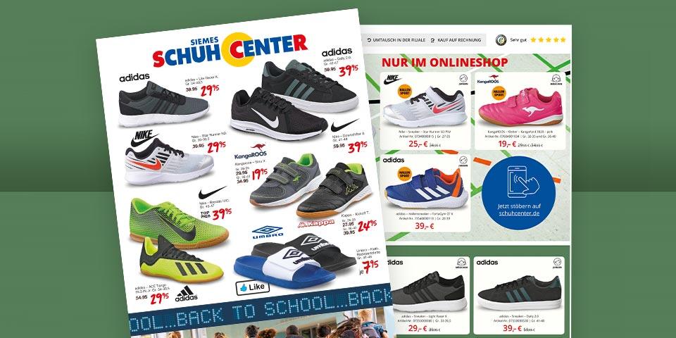Günstige Kinder Sneaker und Sportschuhe für den Schulanfang aus dem aktuellen Back to School Prospekt