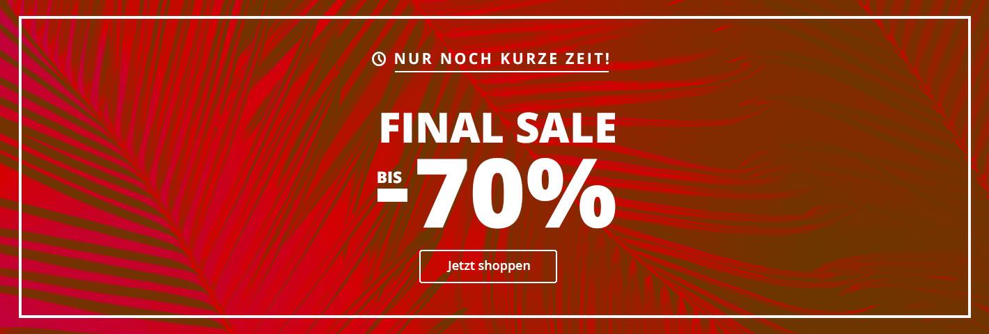 Nur noch wenige Tage! Jetzt stark reduzierte Schuhe für Damen, Herren und Kinder im Final Sale auf schuhcenter.de sichern