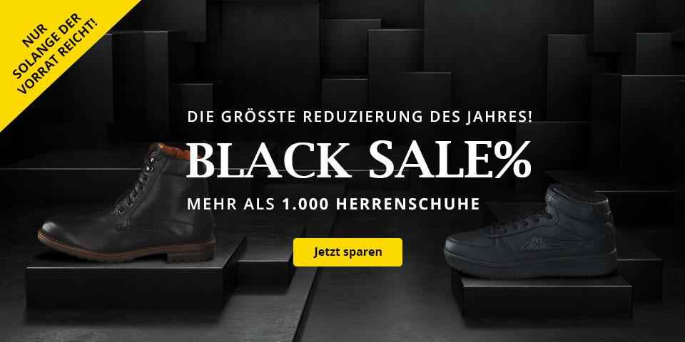 Black SALE - Die größte Reduzierung des Jahres! Mehr als 1.000 reduzierte Herrenschuhe auf schuhcenter.de