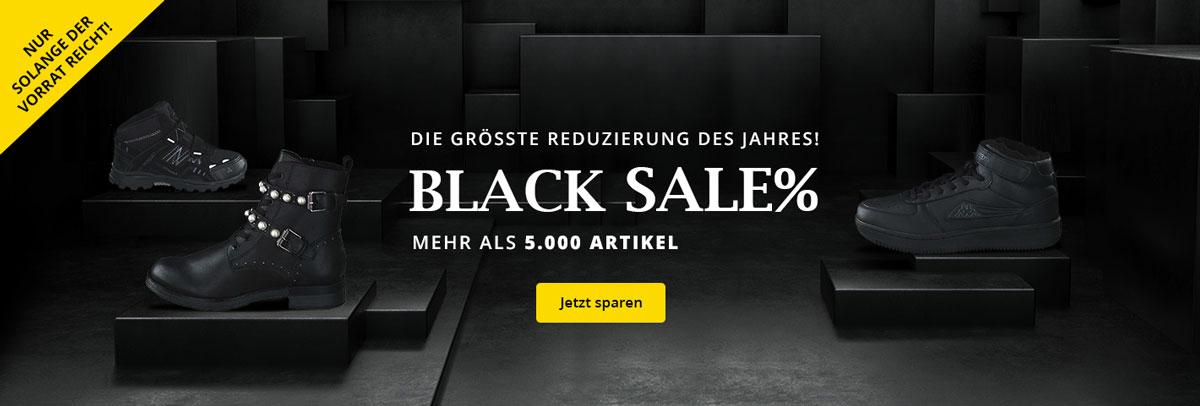 Black SALE - Die größte Reduzierung des Jahres! Mehr als 5.000 reduzierte Schuhe für Damen, Herren und Kinder auf schuhcenter.de