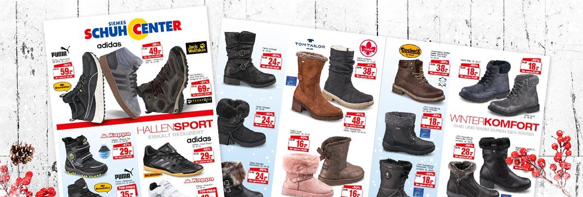 Aktueller Siemes Schuhcenter Prospekt - Jetzt günstige Angebote sichern und Schuhe für Damen, Herren und Kinder shoppen