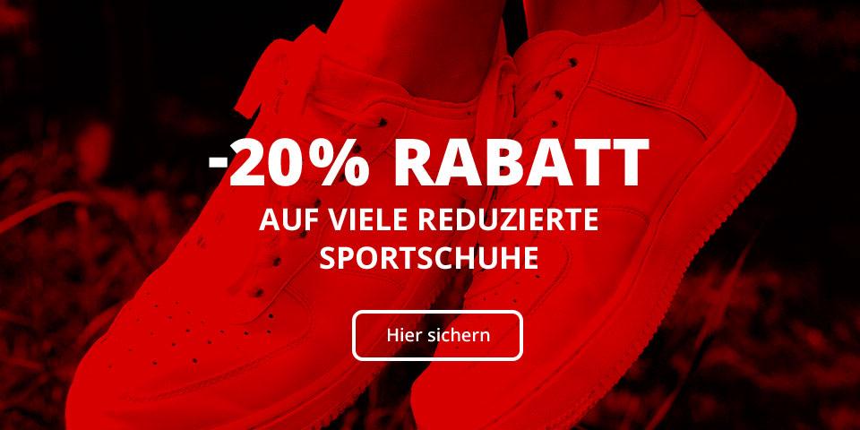 -20% Rabatt extra auf viele reduzierte Sportschuhe