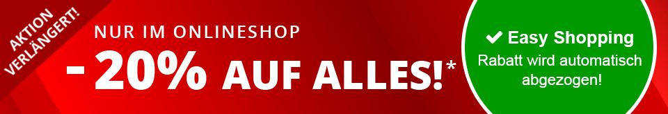 -20% auf alles im Siemes Schuhcenter Onlineshop