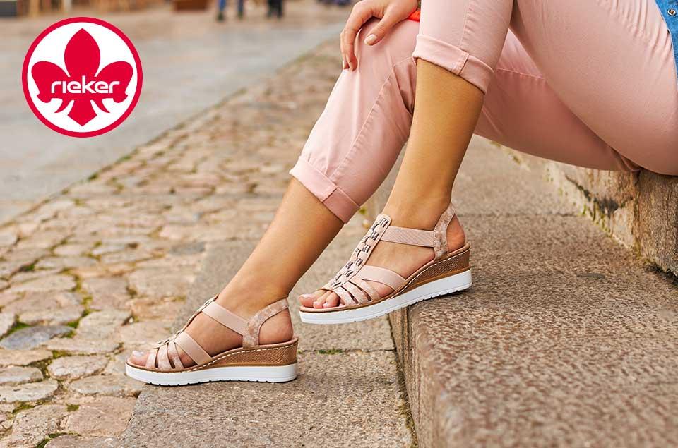Damen Rieker Sandalen, Sneakers, Halbschuhen, Slippers uvm. jetzt günstig online bei Siemes Schuhcenter kaufen