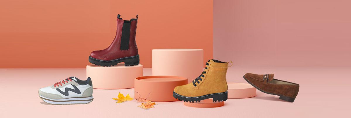 Jetzt neue Damenschuhe für den Herbst auf schuhcenter.de shoppen: Stiefeletten, Halbschuhe und Sneaker