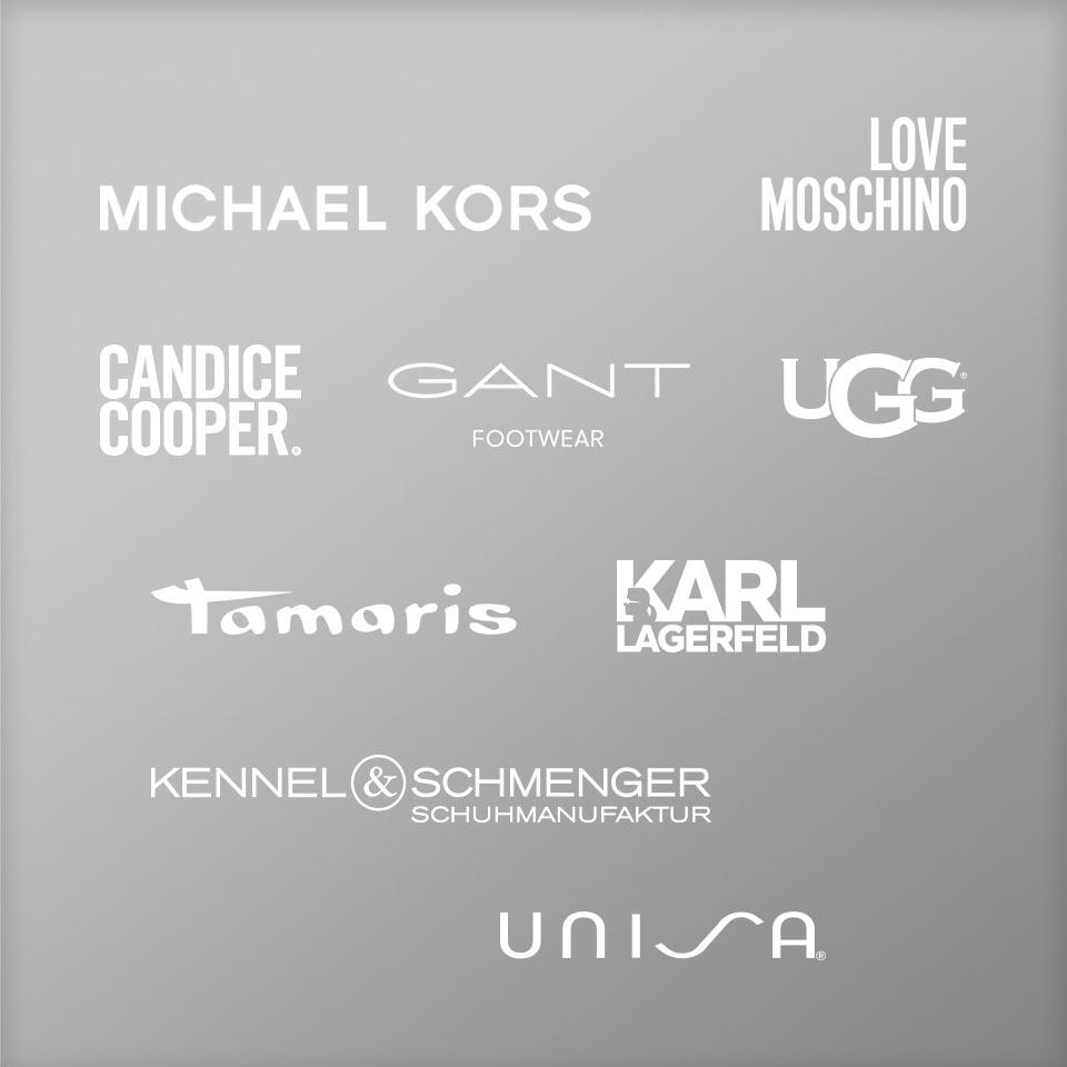 Hochwertige Markenschuhe von Michael Kors, Love Moschino, Candice Cooper, Gant, UGG, Tamaris, Karl Lagerfeld, Kennel und Schmenger, Unisa uvm.