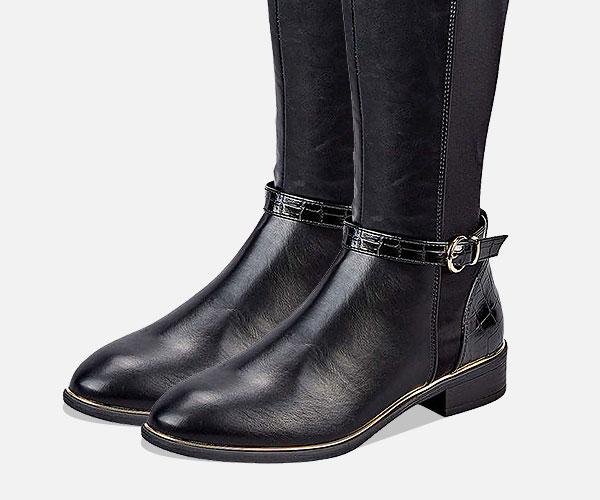 Klassisch elegante Damen Stiefel mit hohem und niedrigen Schaft