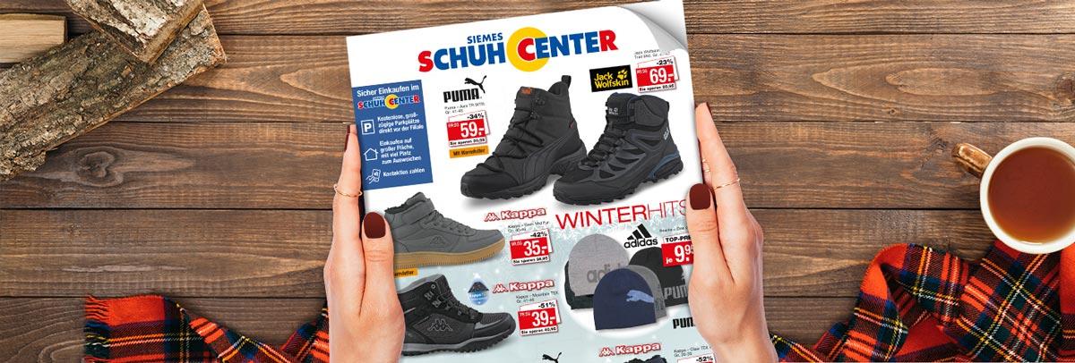 Siemes Schuhcenter Prospekt Winter 2020: Jetzt exklusive Online-Angebote auf schuhcenter.de für die ganze Familie sichern