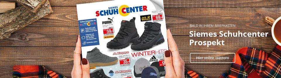Blättern Sie hier online durch das aktuelle Siemes Schuhcenter Prospekt Winter 2020 und sichern Sie sich Angebote für die ganze Familie