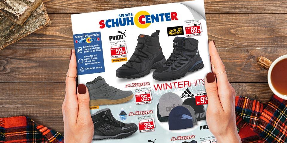 Blättern Sie hier online durch das aktuelle Siemes Schuhcenter Prospekt Winter 2020