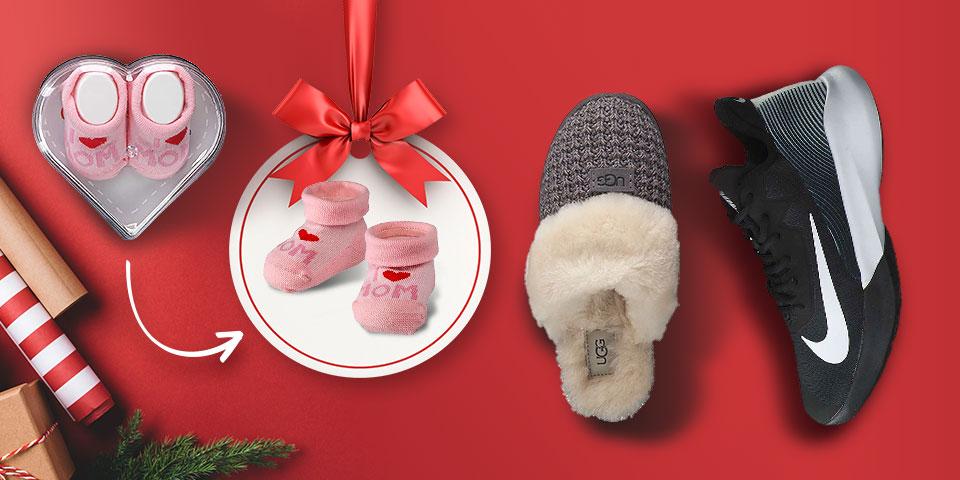 Gönn dir was! X-Mas Geschenkideen für dich und andere: Sneaker von adidas, Nike & Co., kuschelige Hausschuhe von UGG, süße Babysöckchen uvm. jetzt günstig online shoppen auf schuhcenter.de