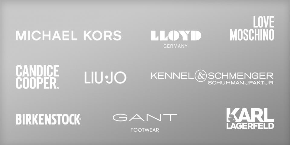 Hochwertige Markenschuhe von Michael Kors, Love Moschino, Candice Cooper, Gant, Kennel und Schmenger, Unisa uvm.