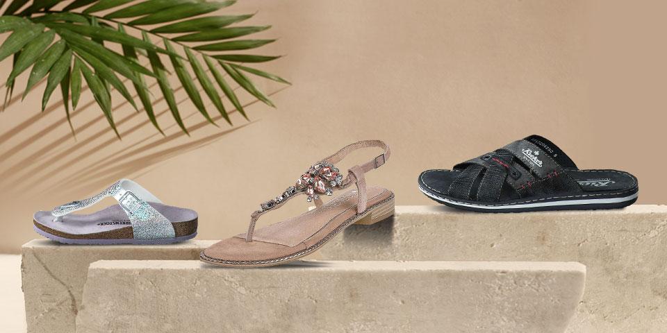 Offene Sommerschuhe: Sandalen und Pantoletten für die ganze Familie zu günstigen Preisen online shoppen auf schuhcenter.de