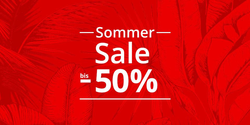 Sommer SALE bis -50%: Sandalen, Pantoletten, Sneaker, Sportschuhe uvm.