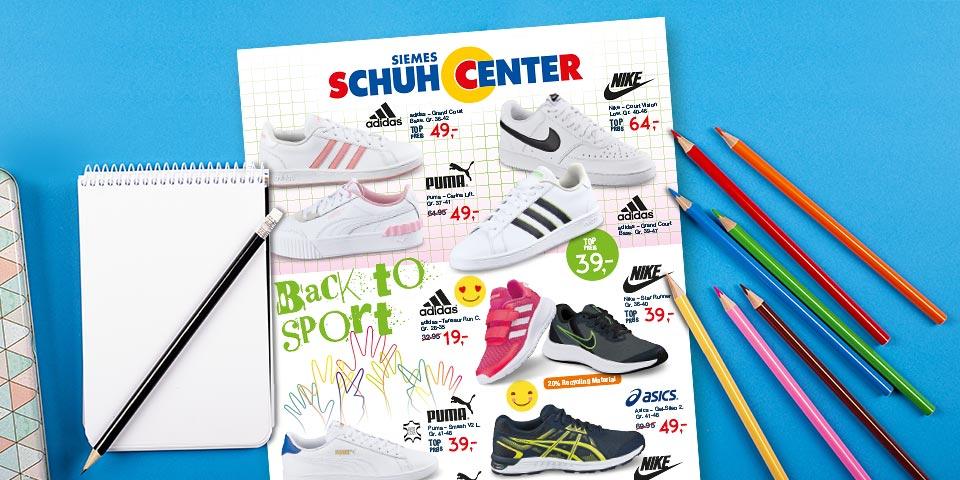Siemes Schuhcenter Prospekt Back to School