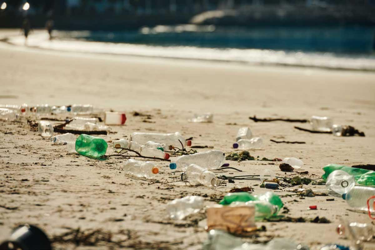Plastikflaschen am Strand - Helfen Sie mit für saubere Ozeane
