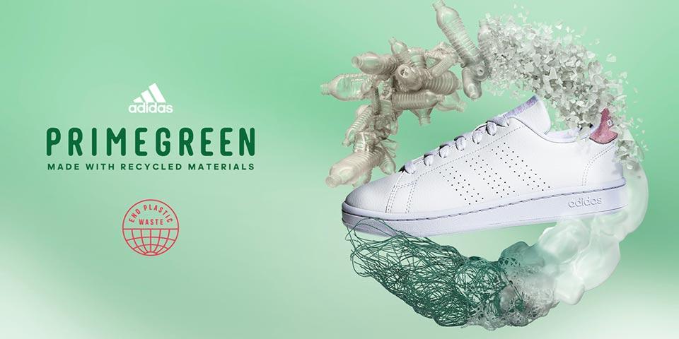 Nachhaltige adidas Sneaker: PRIMEGREEN Sneaker bestehen zu mind. 40% aus recyceltem Plastik