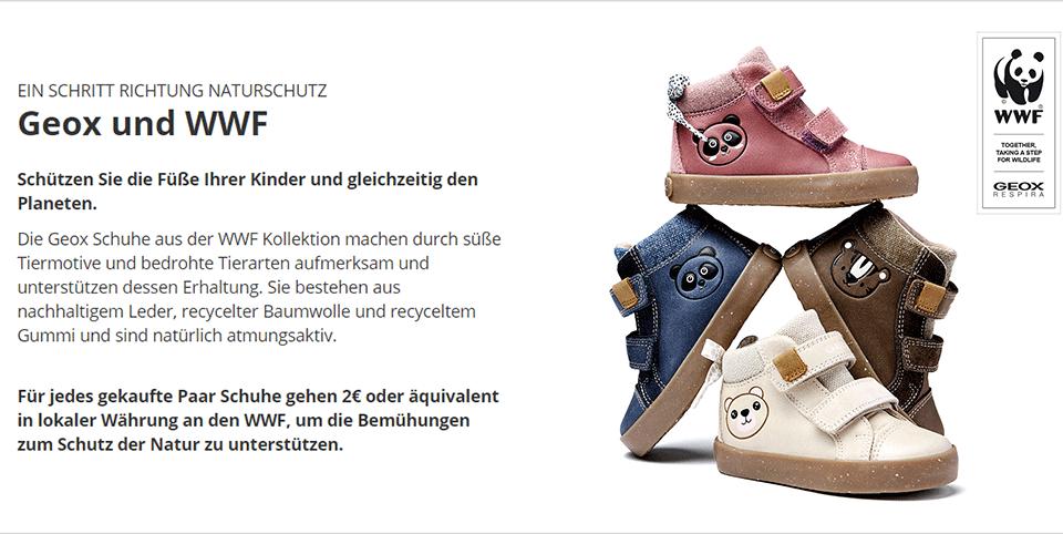 Geox WWF Kollektion - Schuhe für Kinder aus nachhaltigen Materialien