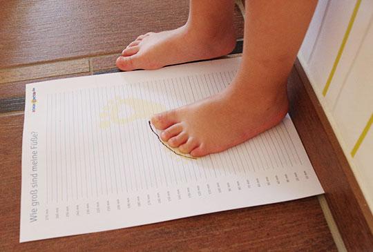 Kinderfüße richtig messen