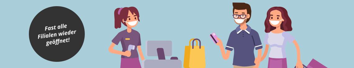 Shopping bei Siemes Schuhcenter: Fast alle Filialen sind wieder geöffnet!
