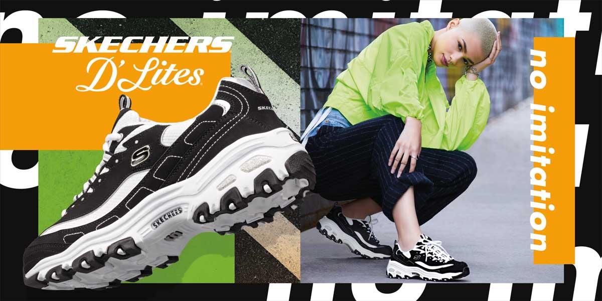 Skechers D Lites Damen Sneaker