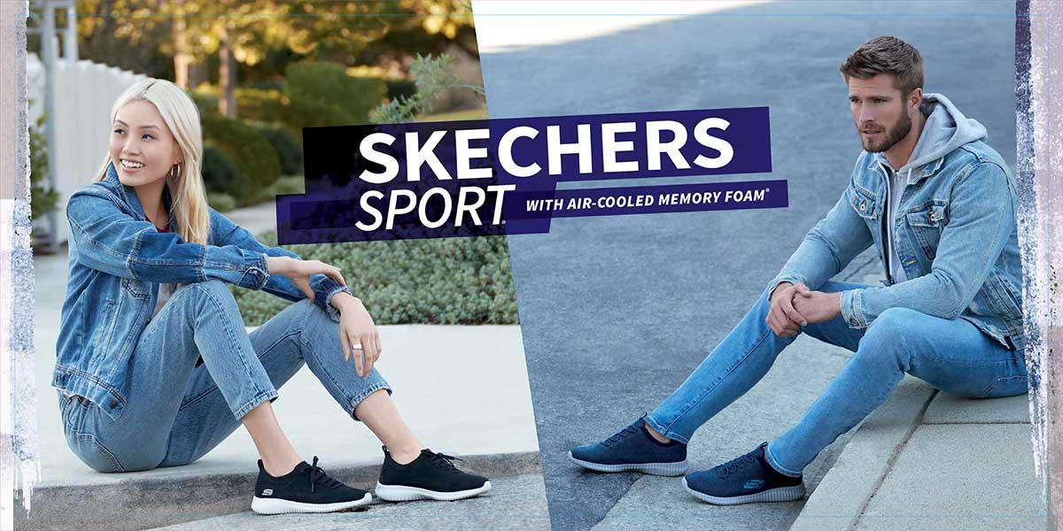 Skechers Sneaker, Slipper, Leuchtschuhe und Sandalen jetzt günstig im Skechers Markenshop bei Siemes Schuhcenter kaufen