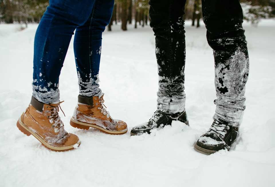 Boots im Schnee