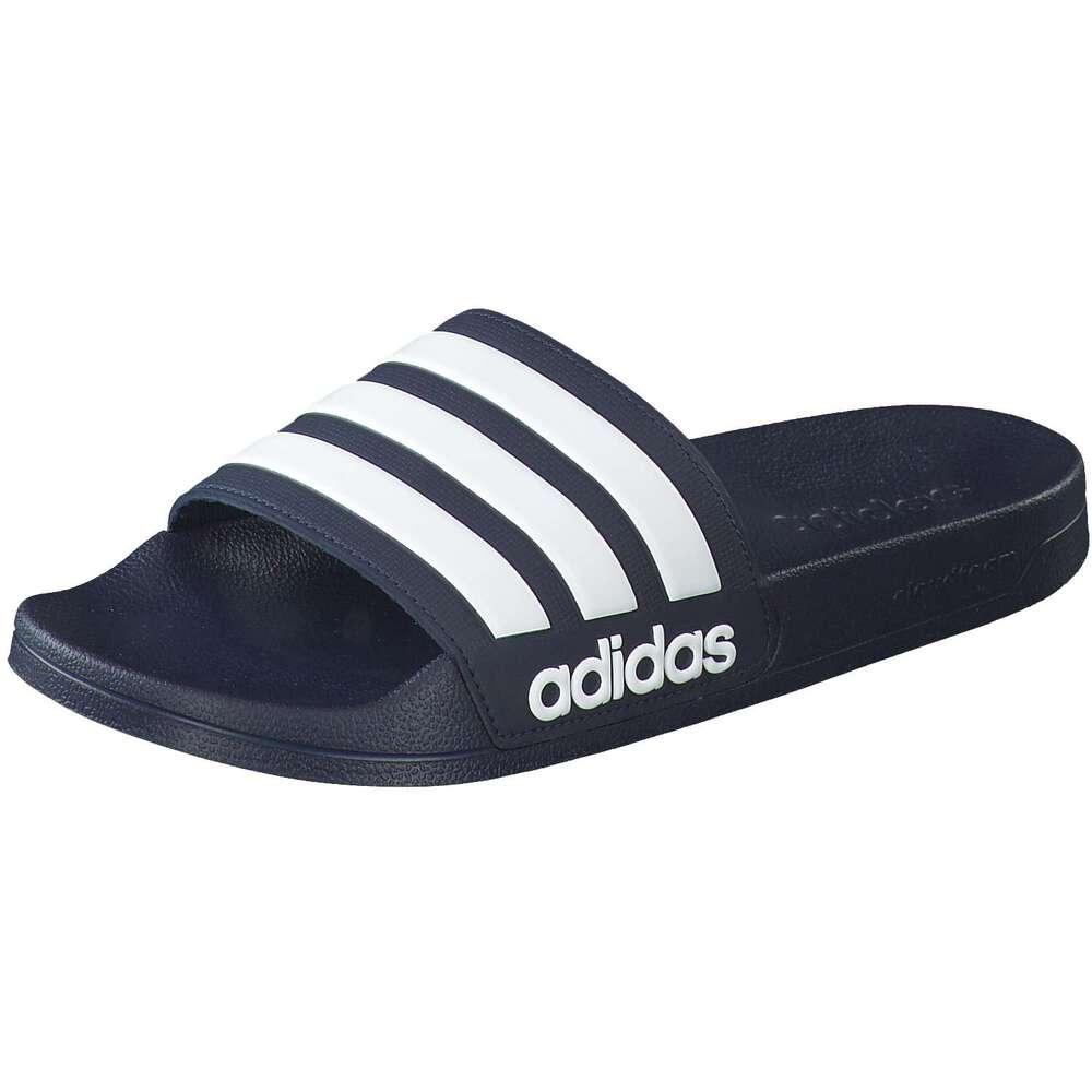 herren offene schuhe adidas CF Adilette blau Synthetik