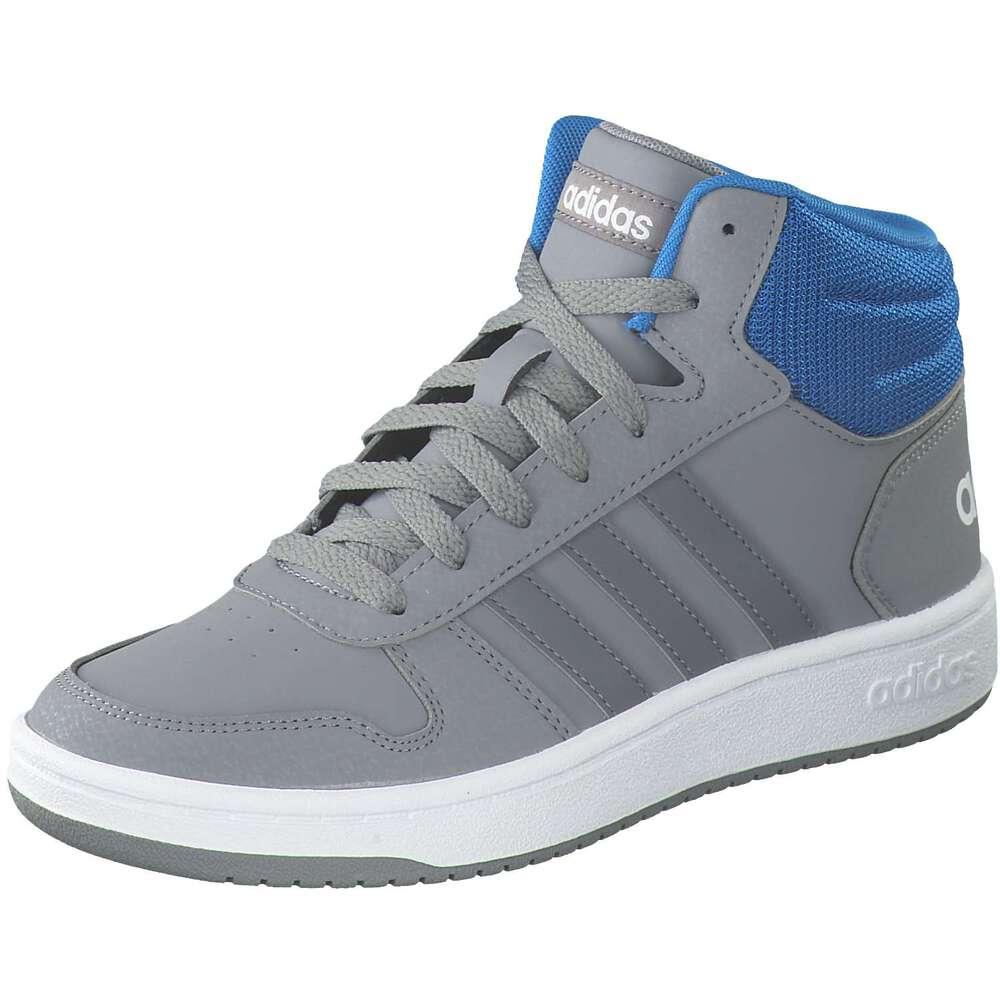 Adidas Hoops 2.0 Mid Schuhe Schwarz   Herren Adidas Sneakers & Halbschuhe