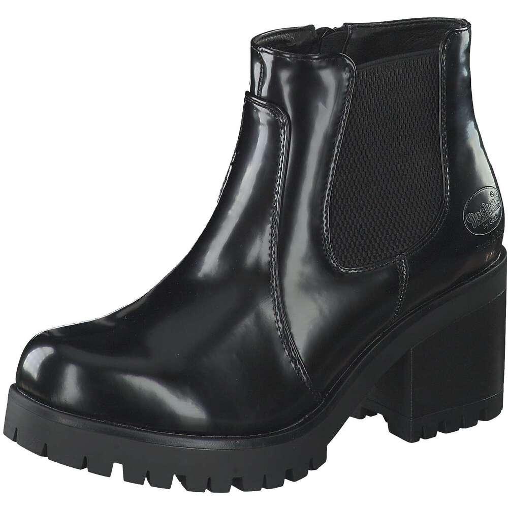 Dockers Damen Chelsea Boots mit Blockabsatz