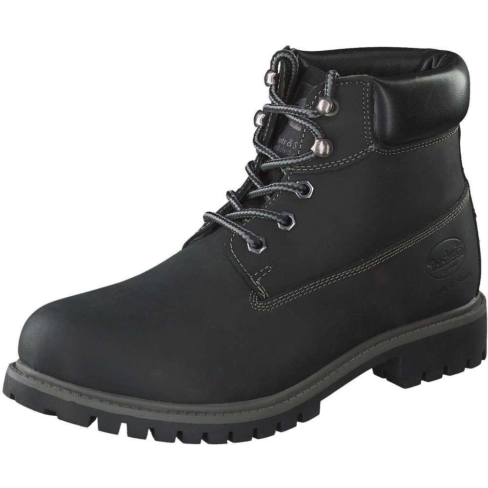 dockers herren schn r boots in schwarz reduziert bei. Black Bedroom Furniture Sets. Home Design Ideas