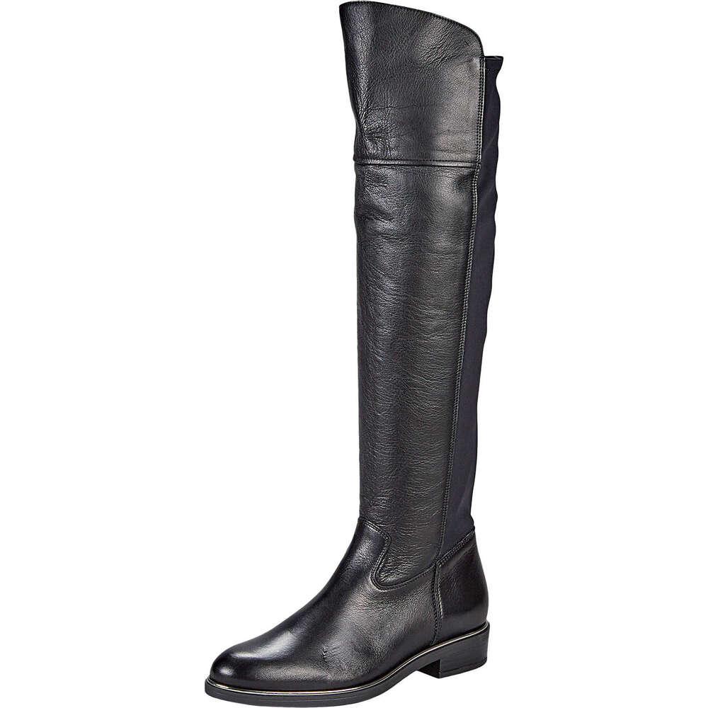 Fiocco Overknee Stiefel aus Leder