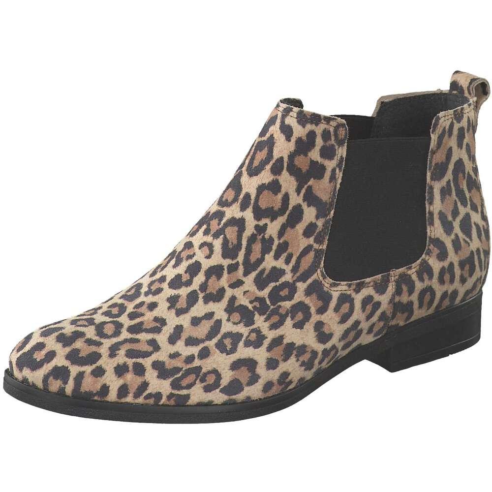 Extravagante Gabor Ankle Boots mit Leo-Print