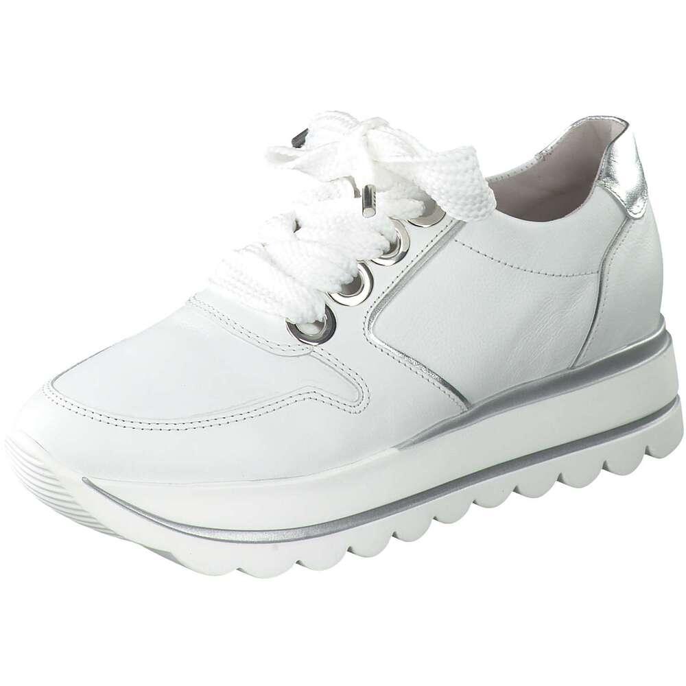 Gabor Sneaker weiß Glitzer silber