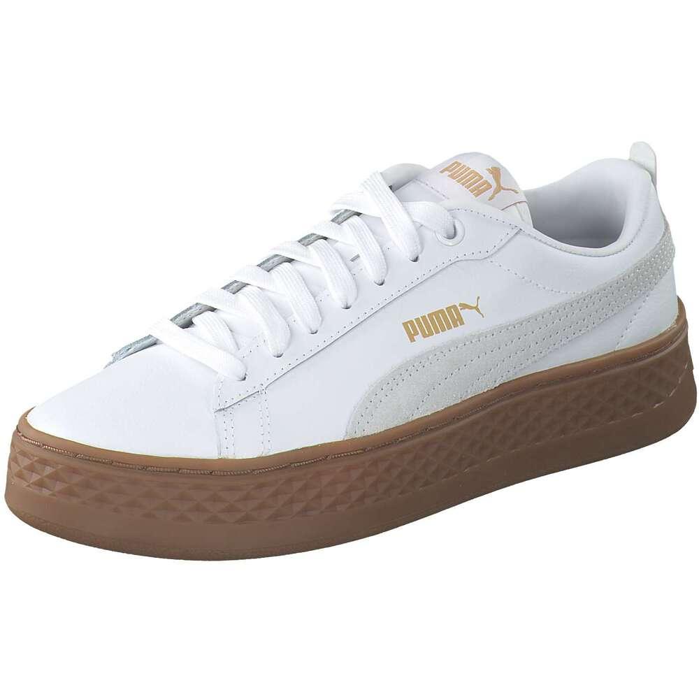 Sneaker Low Damen Verkauf Weiss Puma Smash Platform