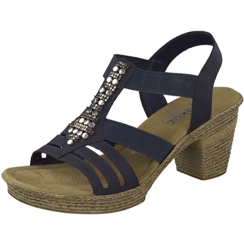 rieker damen sandale in blau reduziert bei. Black Bedroom Furniture Sets. Home Design Ideas