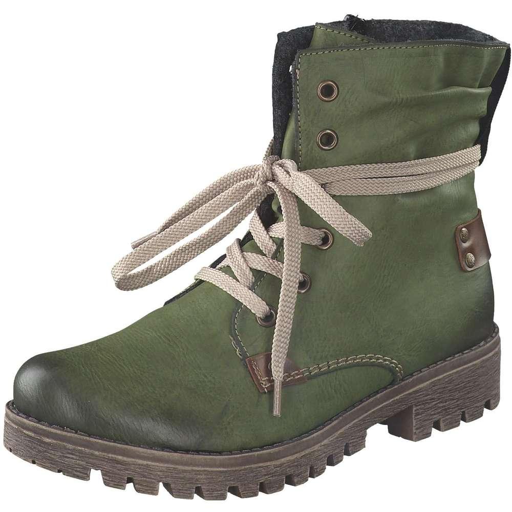 suche nach neuestem Angebot bieten viel Rieker - Schnürstiefelette - grün | Schuhcenter.de