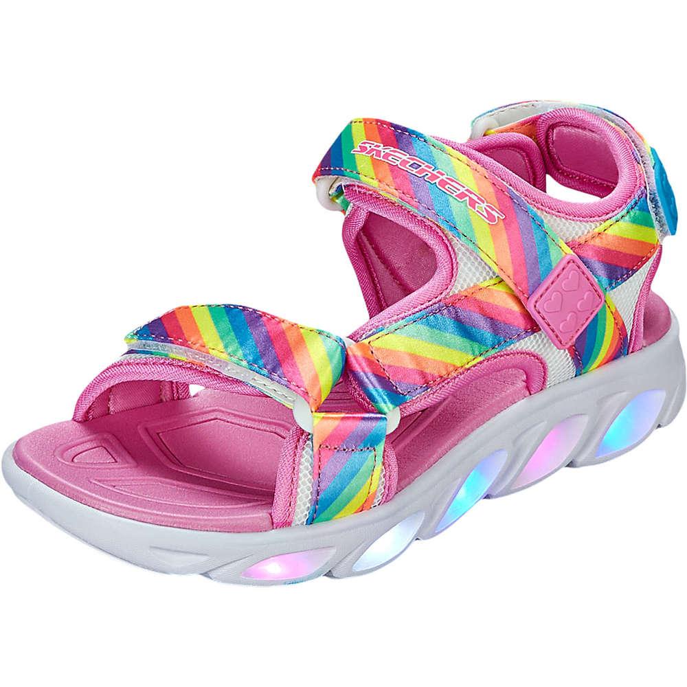 Skechers S Lights Hypno Splash Rainbow Sandalen mit Leuchtsohle