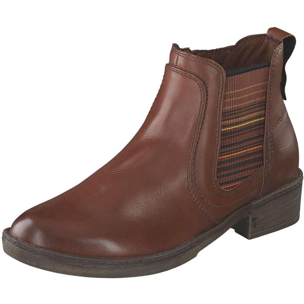 Tamaris Damen Chelsea Stiefelette - Klassische Chelsea Boots mit Stretcheinsatz