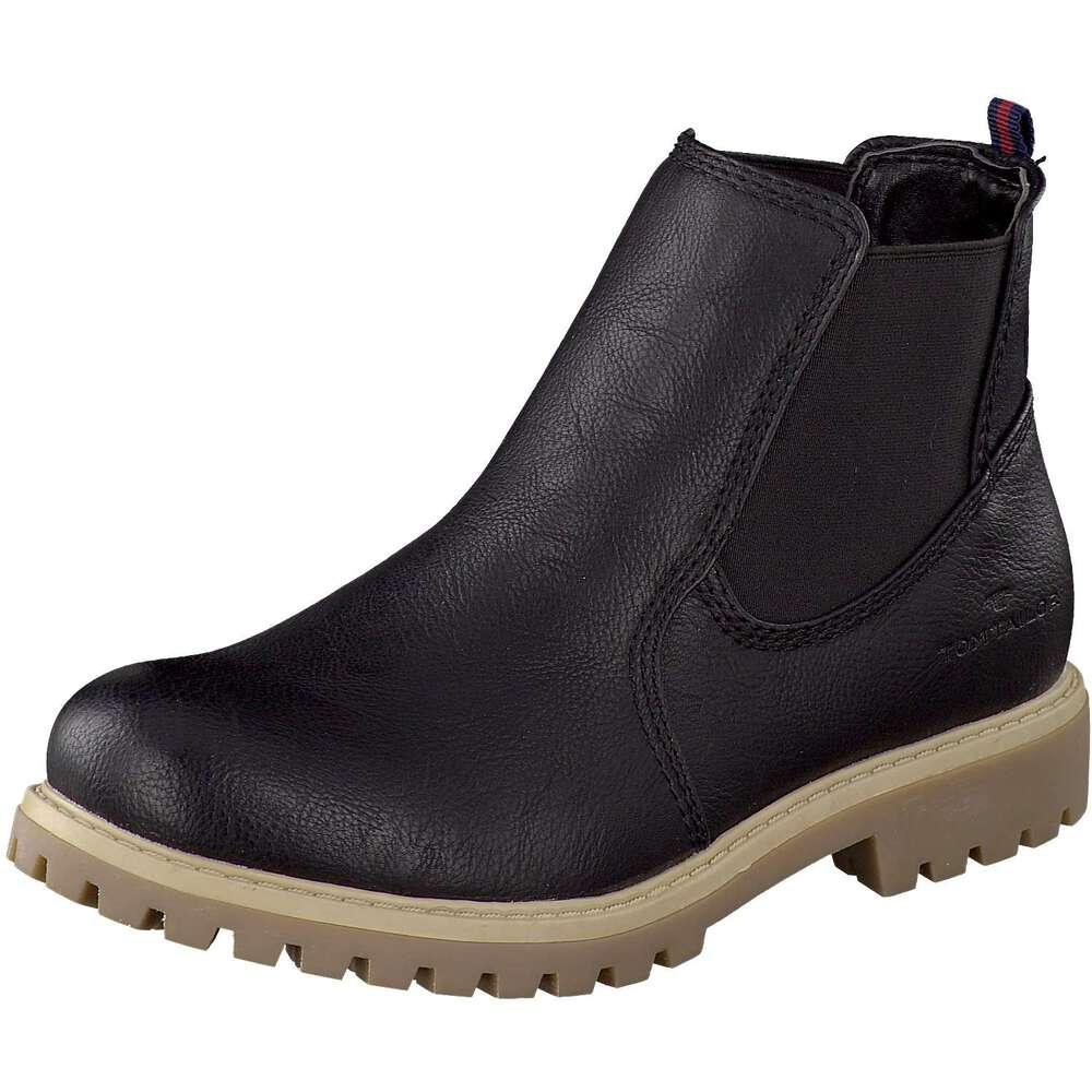 tom tailor damen chelsea boots in schwarz g nstig bei. Black Bedroom Furniture Sets. Home Design Ideas