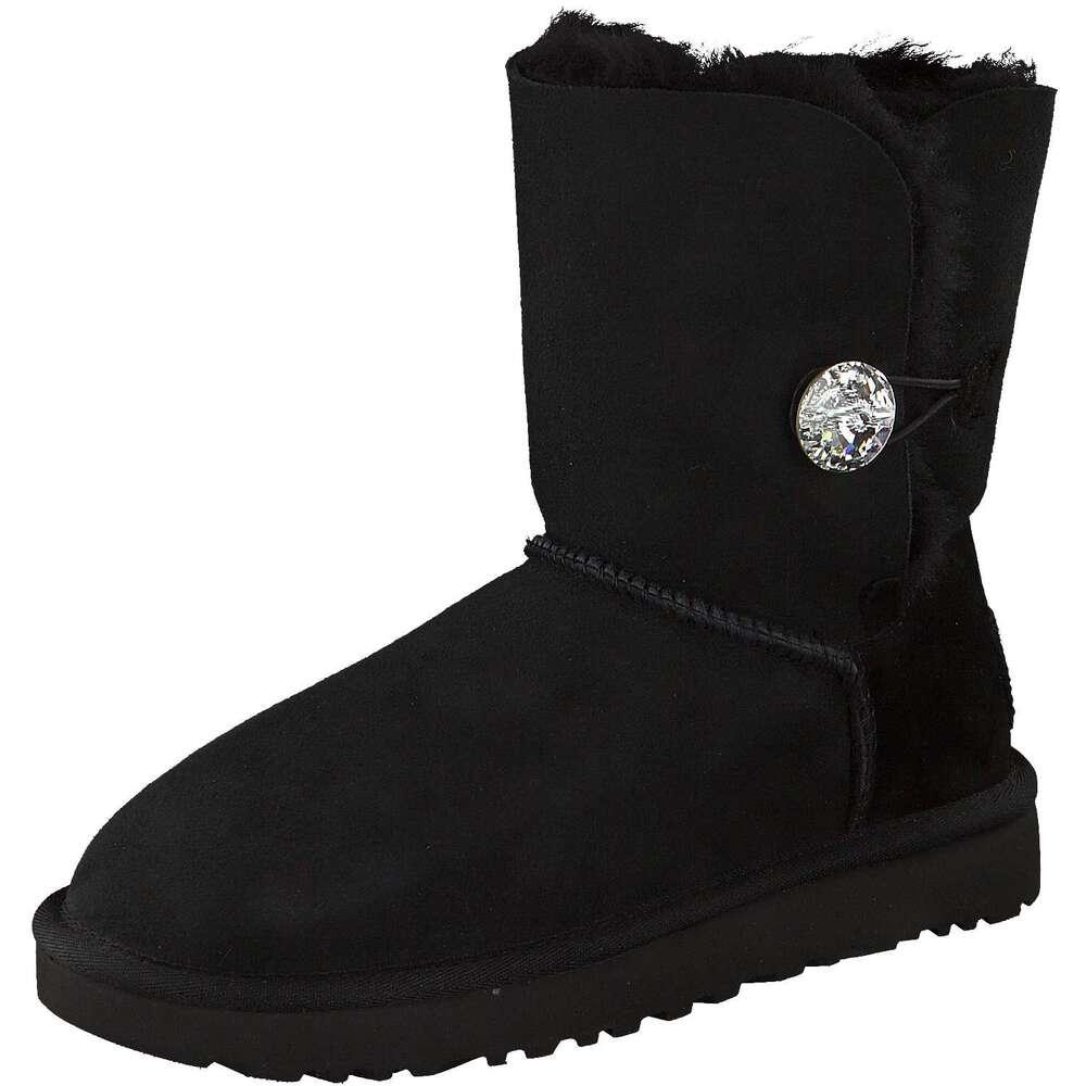 ugg boots button schwarz