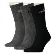 Puma Lifestyle Graue Schuhe Crew Socken 3-er Pack  grau