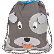 Affenzahn Taschen & Rucksäcke Turnbeutel Hund  grau